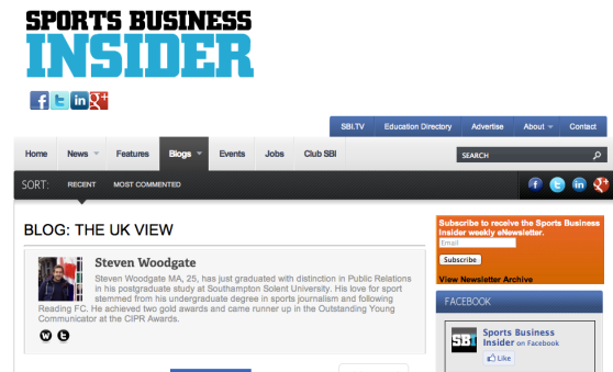 Sports Business Insider